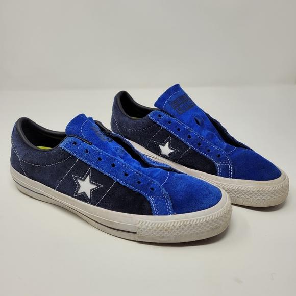 Converse Cons Blue Star Skateboarding shoes M8 W10